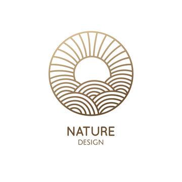 Round logo sunny sea