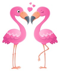 Valentine flamingos topic image 1