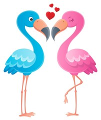 Valentine flamingos topic image 2