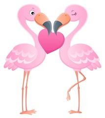 Valentine flamingos topic image 7