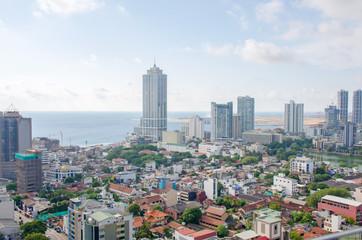 beautiful landscape top view city of Colombo of Sri Lanka