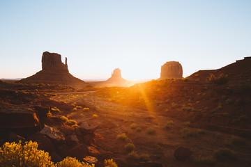 Wall Mural - Monument Valley at sunrise, Arizona, USA
