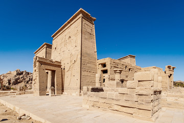 The old temple Philae dedicated to Isis Goddes