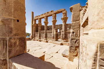 The temple of Philae in Aswan Egypt