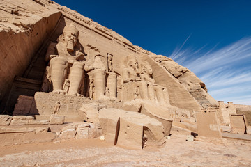 Great Temple built by Ramesses II in southern Egypt the Abu Simbel Temple near Aswan