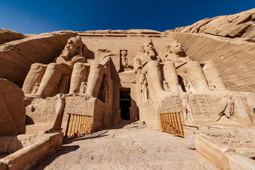 Abu Simbel is the most well known temple in Egypt and is was built by Ramesses II or Ramesses the Great