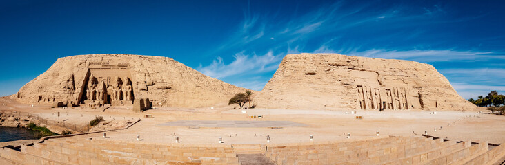 Great temples of Abu Simbel panoramic view