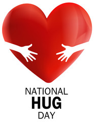 National Hug Day, 3d heart