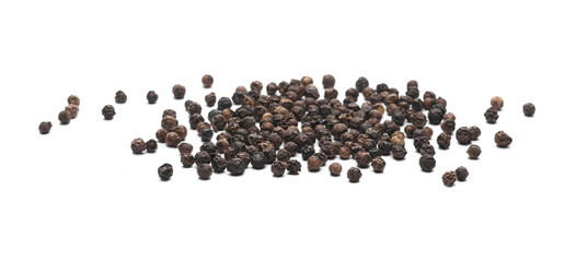 Wall Murals Spices Black pepper, peppercorn isolated on white background