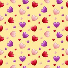 Valentine's Love Seamless Pattern , vector illustration