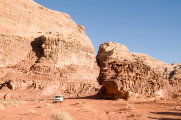 Jeep tour in Wadi Rum desert , Jordan