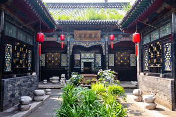 Foto op Plexiglas Asia land Aug 2013 - Pingyao, Shanxi province, China - One of the courtyards of Ri Sheng Chang, the oldest bank in the world in Pingyao Ancient City. Pingyao is a UNESCO World Heritage Site