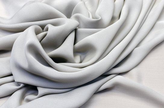 Crepe de Chine silk in light gray