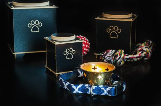 Black Cremation urn for pets