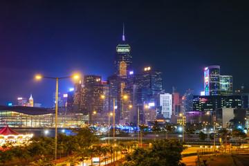 香港 湾仔 夜景