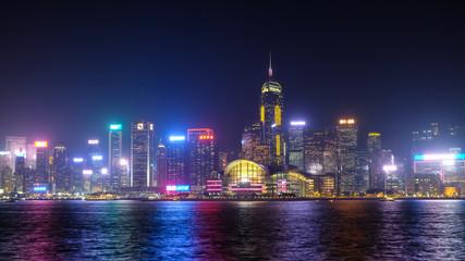 香港 ビクトリアハーバー 夜景 湾仔方面