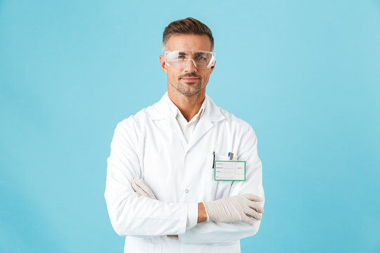Confident man doctor wearing unifrom