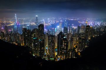 香港 ビクトリアピーク 展望台からの夜景
