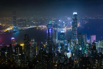 香港 ビクトリアピーク遊歩道(盧吉道観景台)からの夜景