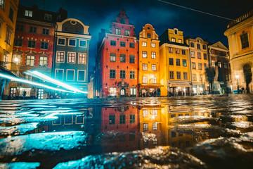 Gamla Stan at night, Stockholm, Sweden