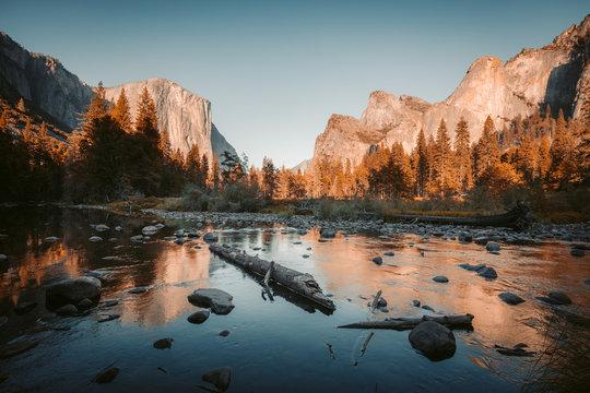 Yosemite National Park at sunset, California, USA