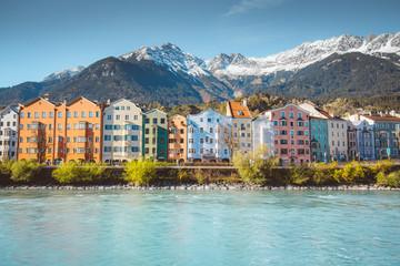 City of Innsbruck with Inn river, Tyrol, Austria