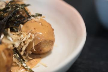 Takoyaki is a Japanese snack