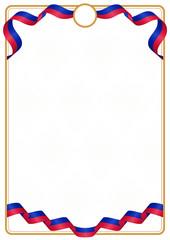 Frame and border of Haiti colors flag