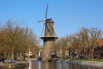 Windmill in Schiedam, Netherlands