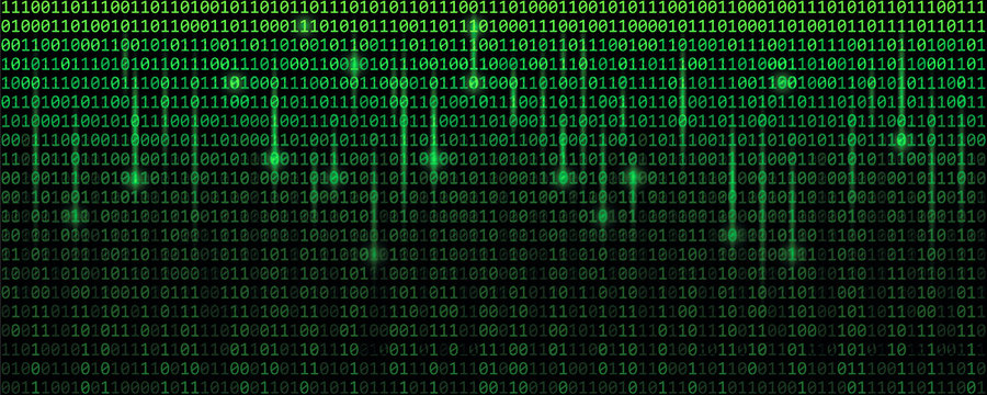 green matrix binary code web background vector illustration EPS10