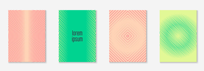 Modern catalog. Pink and green. Texture placard, flyer, invitation, page concept. Modern catalog with minimalist geometric line and trendy shapes.