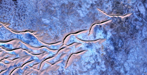 abstract photography of the deserts of Africa from the air, aerial view, abstract expressionism, contemporary  art, abstract naturalism.