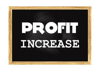 Profit increase. Blackboard concept record. Vector illustration for design