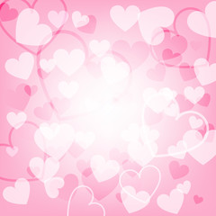Happy valentines day greetings card design background - Vector illustration.