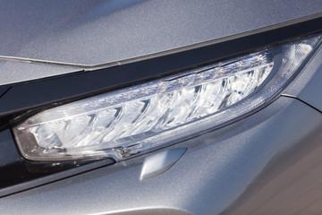 Detail of a modern car. Head light