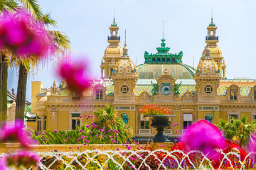 View on the grand casino in Monte Carlo, Monaco on a sunny day. Wall mural