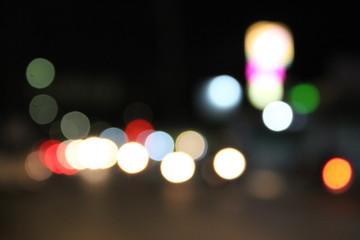 Bokeh from car lights