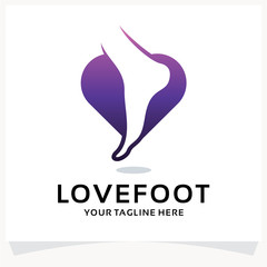 Love Foot Logo Design Template Inspiration