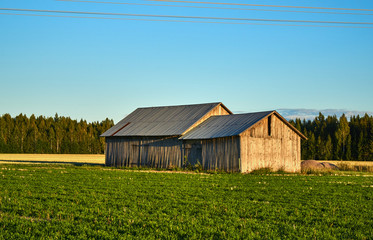 Old storage barn in the fields
