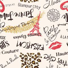 Modèle sans couture de Paris Fashion et glamour abstract vector