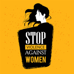 Elimination of Violence Against Women with nice and creative design illustration. - Vector