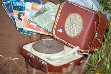 retro vinyl record player