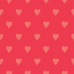 Wall Mural - Hand Painted Hearts Seamless Pattern