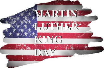 Martin Luther King Day illustration background, mlk day