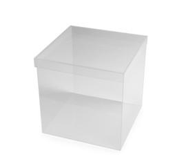 Plastic ballot box on white background. Election time