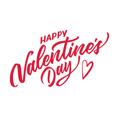 Vector happy valentines day hand drawn lettering
