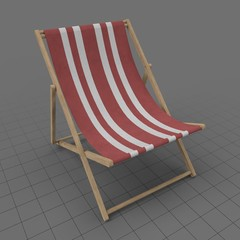 Striped deckchair