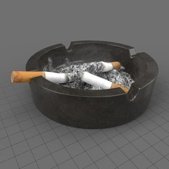 Used ashtray