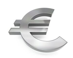 3d brushed metal euro icon