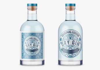 Vintage Gin Label Layout